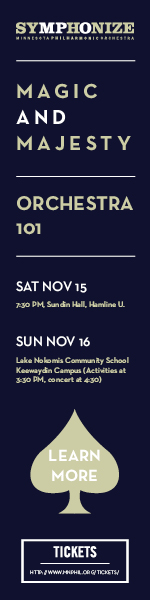 Orchestra 101: Saturday, November 15th. Children's concert Sunday, November 16