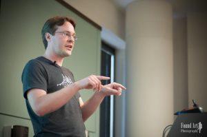 Joe Dolson speaking at WordCamp Minneapolis 2016