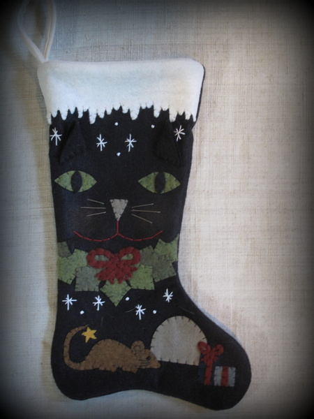 Hand-crafted heritage Christmas stocking, #2 (Pet)