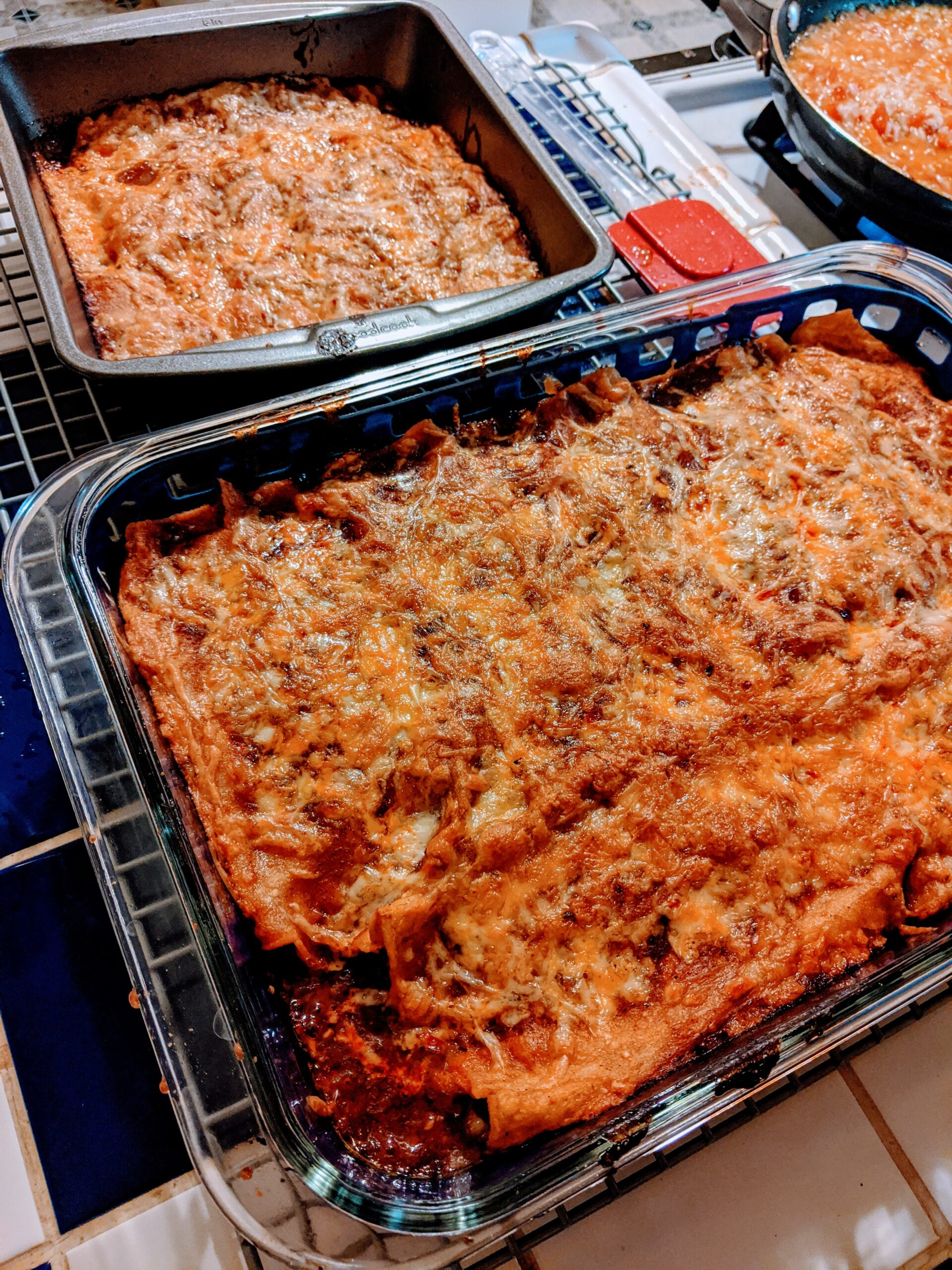 Homemade enchiladas, delivered to your door